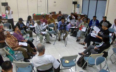 FORUM 65: Suasana Diskusi Forum 65 yang digelar di Ruang PK Ojong (21/9) Lantai 1 Gedung LBH-YLBHI Jakarta [Foto: Humas YPKP'65]