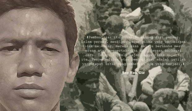 Soe Hok Gie dan pembantaian massal PKI 1965-1966. Foto: Hasan Kurniawan/SINDOnews