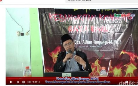 """Illustrasi: Salah satu ceramah hoax Alfian Tanjung, diantaranya mengatakan bahwa: """"Ada Rapat PKI di Istana Negara, Alfian Tanjung: Saya Sampaikan Karena Saya Tahu"""". Fitnahnya kini mulai jadi bumerang [Foto: Detik.Com]"""