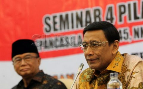 Menteri Koordinator bidang Politik, Hukum dan Keamanan (Menko Polhukam) Wiranto. (SINDOphoto)