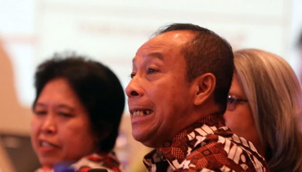 "Letjen TNI (Purn) Agus Widjojo mengisi acara ""Simposium Nasional Membedah Tragedi 1965"" di Hotel Aryaduta, Jakarta, 18 April 2016. TEMPO/Aditia Noviansyah"
