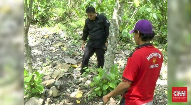 Salah satu lokasi yang disebut-sebut sebagai kuburan massal Tragedi 1965 di Alas Plumbon Mangkang, Semarang. (CNN Indonesia/Damar Sinuko)