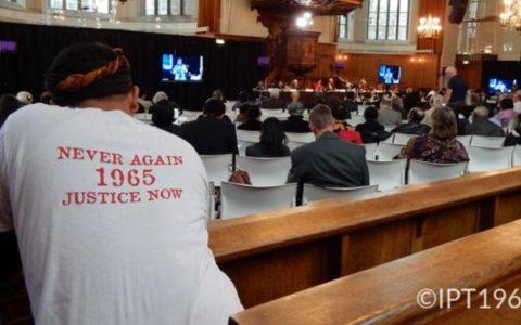 Suasana Pengadilan Rakyat Internasional di Den Haag