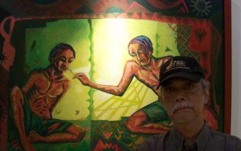 Gumelar Demokrasno, pelukis dan bekas tahanan politik terkait kasus 1965. (photo: VOA Indonesia)
