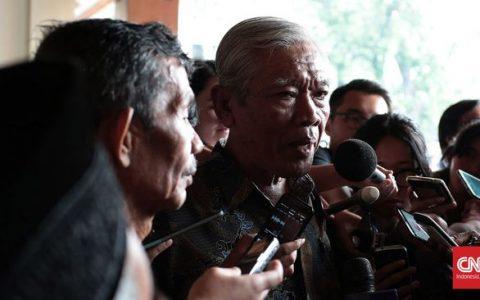 Ketua YPKP 65 Bedjo Untung meminta pemerintah melindungi korbang tragedi 1965. (CNN Indonesia/Andry Novelino)
