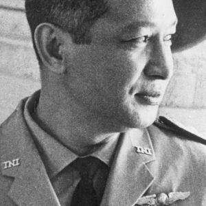Presiden kedua Indonesia, Soeharto, beberapa kali disebut dalam dokumen rahasia AS terkait Peristiwa 1965. [GETTY IMAGES]