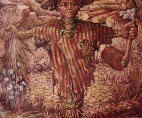 """""""Derita Petani"""", Lukisan: Mardadi Untung"""