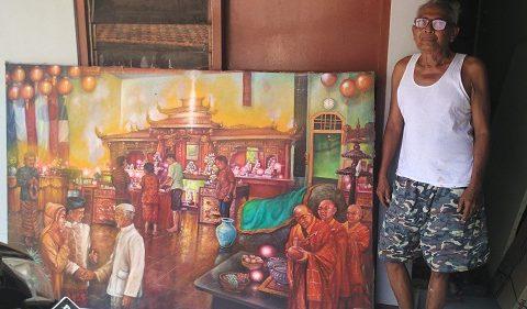 Mardadi Untung dan lukisannya