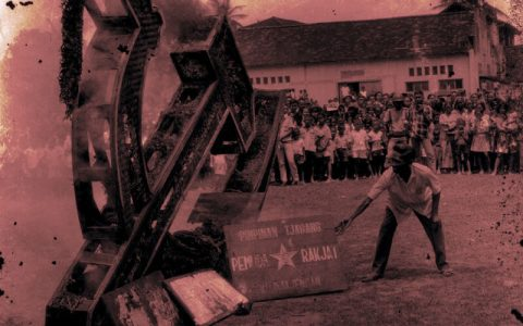 Ilustrasi: W. Sutarto/Foto Antara, via Lontar Foundation
