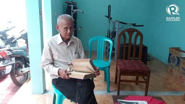 Sertu Ishak Bahar, eks Cakrabirawa yang dipenjara tanpa pengadilan. Foto oleh Irma Muflikhah/Rappler