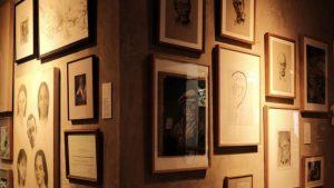 Lukisan dan sketsa Pram beserta keluarganya turut dipamerkan di pameran arsipnya