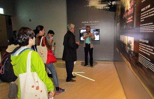 MUSEUM: Museum Jeju 4.3 berisi dokumentasi lengkap kejahatan genosida Korea, dalam berbagai bentuk dan media; menjadi sarana pembelajaran bagi generasi muda mengenai sejarah bangsanya {Foto: Humas YPKP 65]