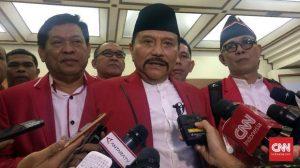 AM Hendropriyono diduga terlibat kasus HAM masa lalu. (CNN Indonesia/Bimo Wiwoho)