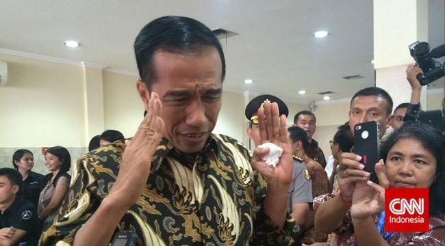 Presiden Jokowi dinilai tak mampu tunai janji tuntaskan kasus HAM masa lalu. (Resty Armenia)