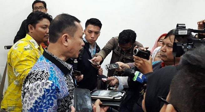 KOMNAS HAM: Ketua Komnas HAM Taufan Ahmad Damanik tengah memberikan keterangan pers pada Kamis (10/1) di aula Media Center Komnas  HAM, Jakarta. [Foto: BU]