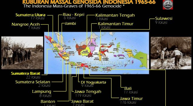 Data temuan kuburan massal korban Genosida 1965-66 [Infografis: Media-Center YPKP'65]