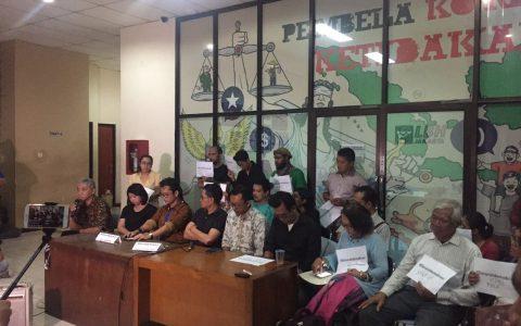 Konferensi Pers Forum 65 di LBH-YLBHI Jakarta [Doc]