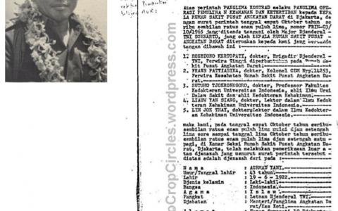 Ahmad Yani dan laporan visum et repertum atas djenazahnja