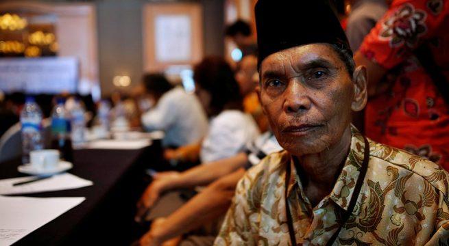 Abdurrashim, pernah ditahan 12 tahun tanpa peradilan karena dituduh terafiliasi dengan Partai Komunis Indonesia. Ia menghadiri Simposium Nasional Tragedi 1965 yang diselenggarakan pemerintah di Jakarta 18-19 April 2016. Reuters/Darren Whiteside